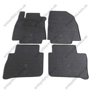 Резиновые коврики в салон Nissan Tiida 2004->, 4шт. (Stingray)