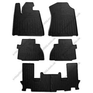 Резиновые коврики в салон Toyota Sequoia 2008->, 6 шт. (Stingray)