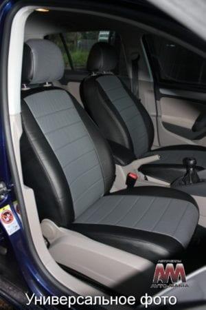 Авточехлы для Ford Fusion 2002-2012, Экокожа, L-line