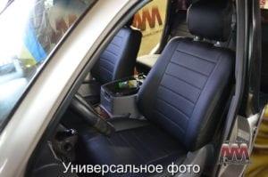 Авточехлы для Ford EcoSport 2014->, Экокожа, L-line