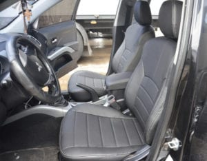 Авточехлы для Peugeot 4007 2007-2013, Экокожа, S-line