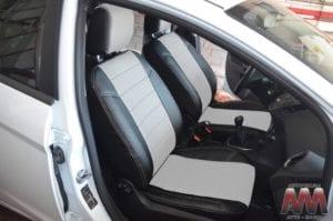 Авточехлы для Ford Fiesta 2008->, Экокожа, X-line