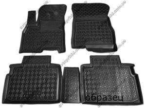 Полимерные коврики в салон KIA Stinger 2017-> 5 шт (Avto-Gumm, чёрный)