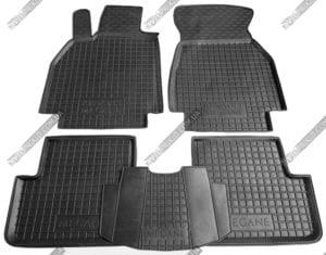 Полиуретановые коврики в салон Renault Megane 2002-2009 5шт (Avto-Gumm, чёрный)