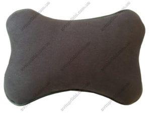 подушка на подголовник коричневая
