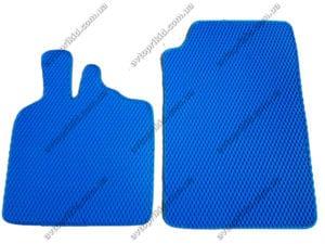 Севиленовые, ячейчастые автоковрики Smart ForTwo (450) 1998-2007, 2шт. синий (EVA)