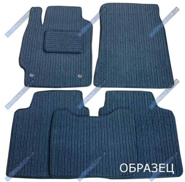 Текстильные коврики в салон Audi A8 2002-2008, 5 шт. (корона, серые)